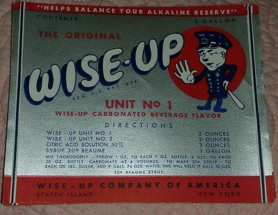Wise Up Carbonated Bev Flavor Staten Island NY Label