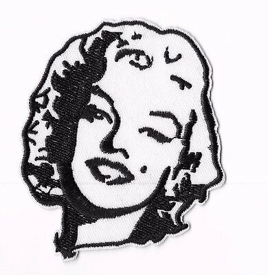 MARILYN MONROE IRON ON / SEW ON PATCH Embroidered Badge PT154 MUSIC