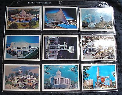1961-1963 New York World's Fair Pictures Official Souvenir Card Set of 22 Cards