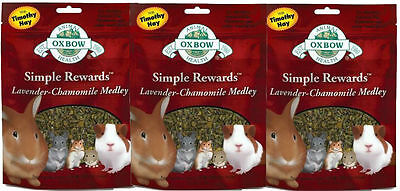 Oxbow SIMPLE REWARDS Treats Rabbit Guinea Pig Chinchilla LAVENDER 2.5oz 3 PACK