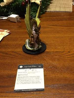 D&D Mini Giants of Legend Huge Gold Dragon (out of bag, unused w/card)