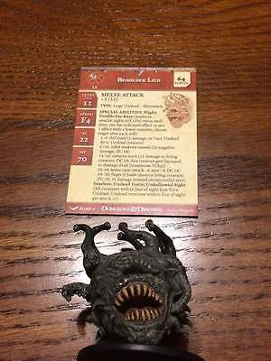 D&D Mini Unhallowed Beholder Lich (out of bag, unused with stat card)