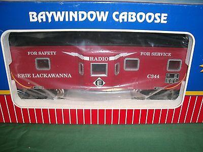 Aristocraft and USA Trains Erie Lackawanna Bay Window Caboose