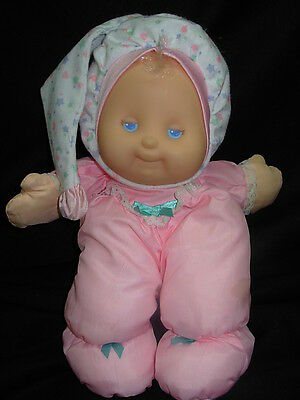 Fisher Price Puffalump Kids #1372 PINK Vintage BABY DOLL 1991 Lights Up !!