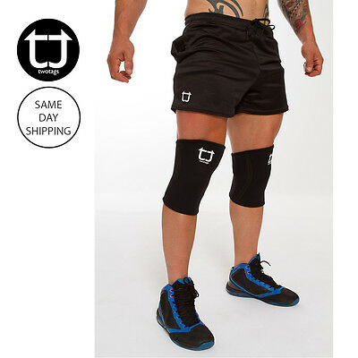 TWOTAGS Knee Sleeves GYM POWERLIFTING PATELLA SQUAT SUPPORT BRACE PROTECTOR CAP