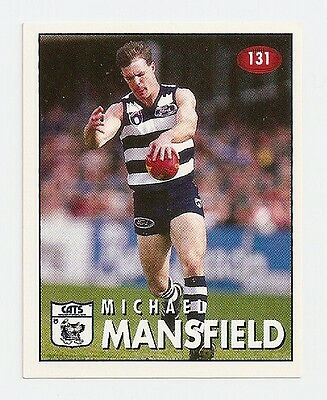 1996 SELECT  VFL/AFL FOOTBALL STICKER #131 Mansfield MINT (Geelong)