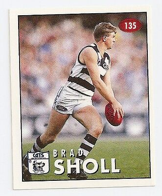 1996 SELECT  VFL/AFL FOOTBALL STICKER #135 Sholl MINT (Geelong)