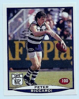 1997 SELECT VFL/AFL FOOTBALL STICKER #100 Riccardi MINT (Geelong)