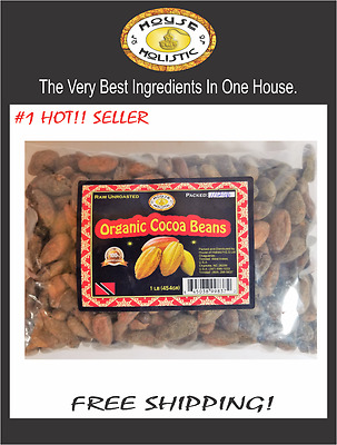 Cocoa beans cacao organic raw chocolate baking diy 1lb BUY 3 GET 1 FREE!