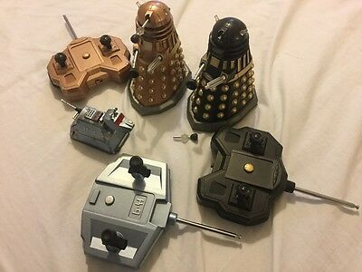 dr who 2 daleks remote contol and k-9