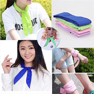 10x Handy Neck Cooler Non-toxic Personal Scarf Body Ice Cool Cooling Wrap GN