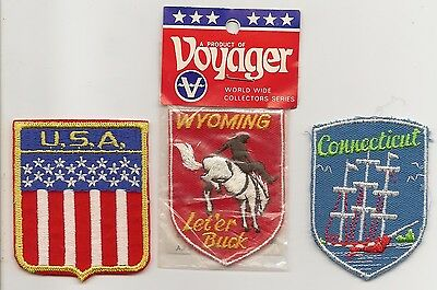 US Tourist badges (x3) - embroidered