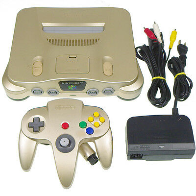 N64 Nintendo 64 Gold Edition Console System Japan Import Working Tested VeryRARE