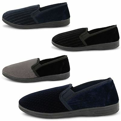 New Mens Moccasin Indoor House Gents Warm Winter Flat Boys Slippers Size Uk 6-12