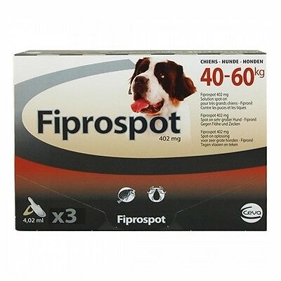 Fiprospot Antiparasitaire Très Grands Chiens 40-60 Kg 3 Pipettes 4.02Ml Fipronil