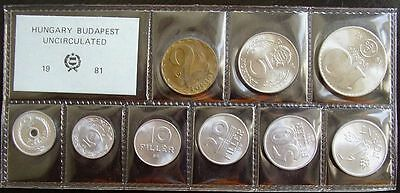 Hungary 1981 Coin Set UNC