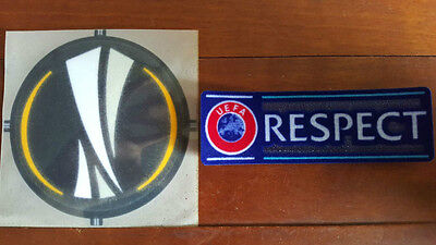 FREE POST&EXCELLENT QUALITY!New UEFA Europa League & Respect 2015/2016 Patch Set