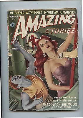 Old October 1952 Amazing Stories Science Fiction Pulp Magazine