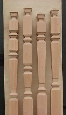 Wood Stair Square Spindles Balusters Banisters High-Quality Oak Birch Spindle