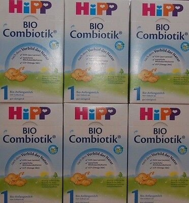 6 -BOXES-HiPP-Organic-Combiotik-First-Infant-Milk-Stage-1 600g Free shipping
