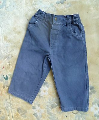 Baby clothes BOY 12-18m navy blue lightweight cotton trousers 2nd item post-free
