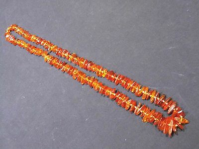 "Beautiful Vintage-Genuine-Natural-Baltic-Amber-Bead-Necklace 29"" Long"