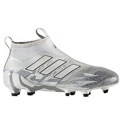 Adidas ACE 17+ Purecontrol FG Junior Youth Soccer Cleats Gray / White