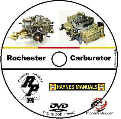 Manuale Tecnico Officina Carburatore Rochester Workshop Manual Service Cd Dvd