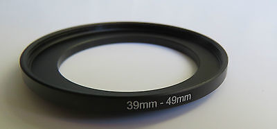39mm to 49mm Stepping Step Up Male-Female Filter Ring Adapter 39mm-49mm