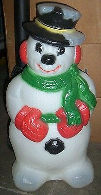 """Vintage Grand Venture Frosty the Snowman Xmas Outdoor Lighted Blow Mold  30"""""""