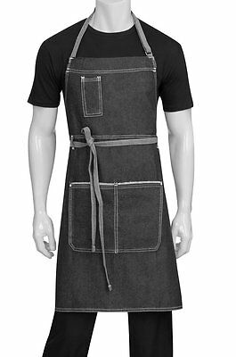 Chef Works Ab041-BLK-0 Bronx Bib Apron, Black