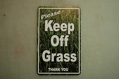 KEEP OFF GRASS yard lawn sign Private do not walk stay off