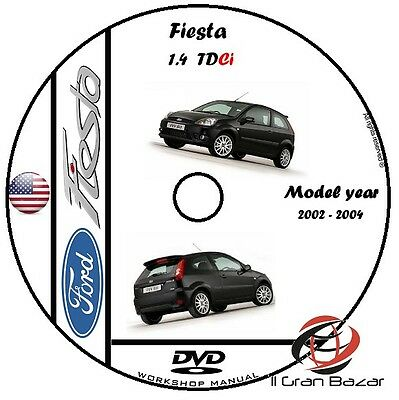 Manuale Officina Ford Fiesta 1.4 Tdci My 2002-2004 Workshop Manual Cd Dvd