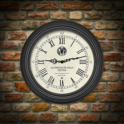 Personalised Station Clock GWR, Ideal for Railway Enthusiasts