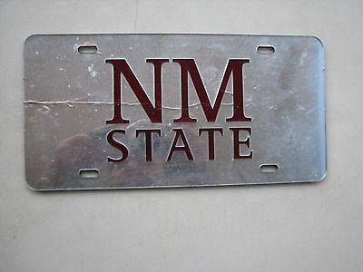 New Mexico State Univ  Front Novelty Booster License Plate Nmsu Las Cruces Nm