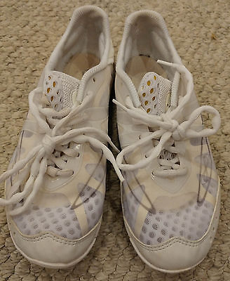 Nfinity Vengeance Cheer Cheerleading Dance Shoes Shoe White + Case Size 9.5