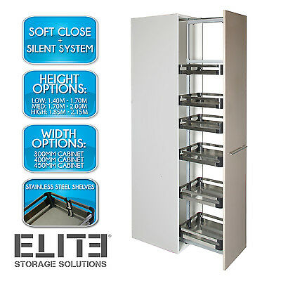Pull Out Pantry Soft Close Unit - Adjustable Height Internal Unit