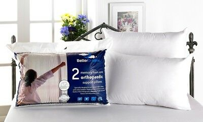 Deluxe Luxury Memory Foam Core Betterdreams Pillows Super Bounce Back Support