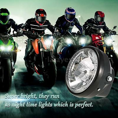"7"" H4 35W LED Motorcycle Headlight Lamp Turn Signal Indicators Universal U2A8"