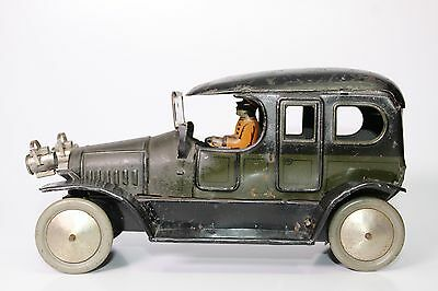 Scarce Pre-War Fischer Tin Litho Limousine With Driver
