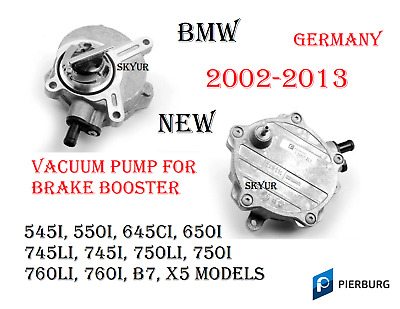 BMW E65 E66 E53 E70 Brake Vacuum Pump w O-Ring  Pierburg 11667635657 11667545384