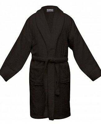 NEW 100% Egyptian Cotton Thick Terry Towelling 550gsm Bath Robe Charcoal
