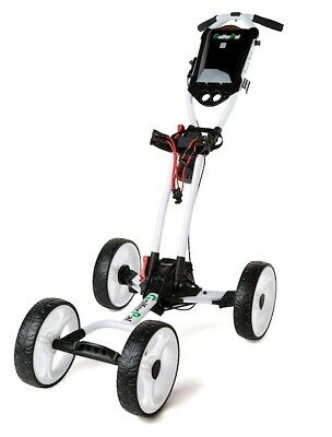 GolferPal Q1 Easypal 4 wheels push golf buggy trolley cart with brake and seat
