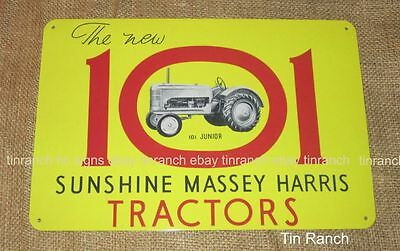SUNSHINE MASSEY HARRIS 101 TRACTOR new TIN SIGN! junior McKAY Australian farm