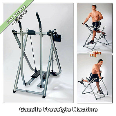 Gazelle Freestyle Machine Exercise Glider Trainer Body Gym Fitness Workout DVD