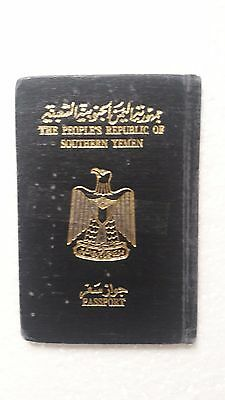 Old Vintage Passport issued 1983 AD the People's Republic of Southern Yemen