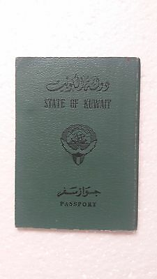 Old Vintage Passport issued 1976 AD (  the picture was removed ) State of Kuwait