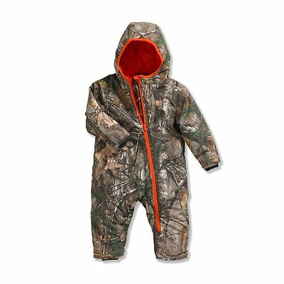 NEW Carhartt Camo Snowsuit 18 Months Baby Toddler Boys Quilted Lined Winter NWT