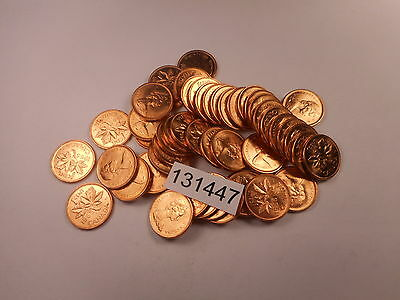 High Grade Roll Fifty (50) Coins - Canada Small Cents - Very Nice - # 131447