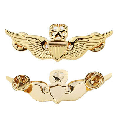 Luxury Boy Wings Military Command Pilot Metal Wings Metal Badge Pin Special Craf